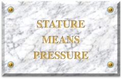 stature means pressure
